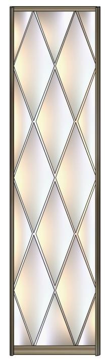 Модель 11 Зеркало серебро Алмазная гравировка 600