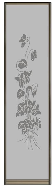 Модель 11 Зеркало серебро с пескоструйной гравировкой 705 мм