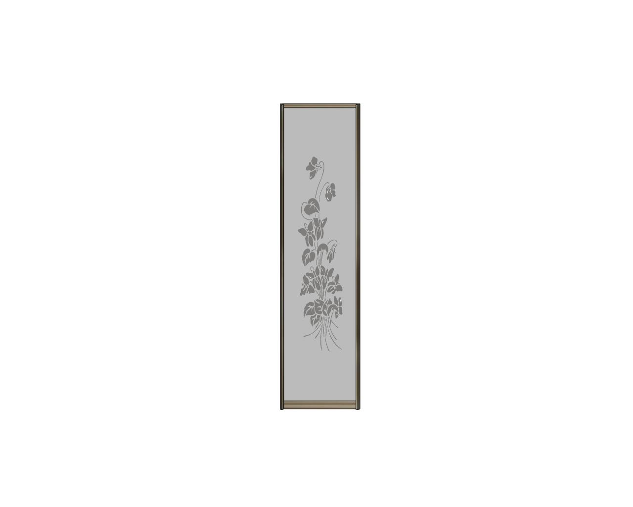 Зеркало серебро с пескоструйной гравировкой