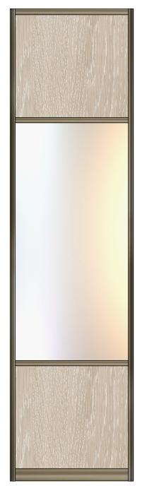 Модель 13 ЛДСП-Зеркало серебро-ЛДСП 800 мм