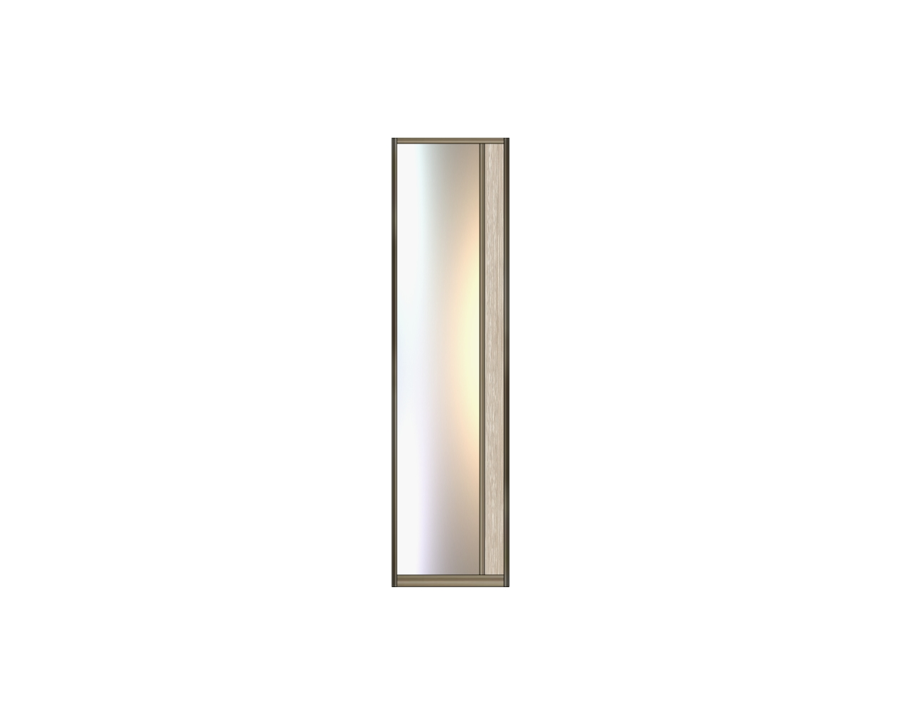 Модель 21-22 полотно Зеркало серебро — вставка 100 мм ЛДСП 550 мм