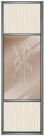 Модель 13 ЛДСП-Зеркало бронза с песк. рисунком-ЛДСП 600 мм