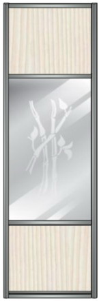 Модель 13 ЛДСП-Зеркало сер. с песк. рисунком-ЛДСП 800 мм