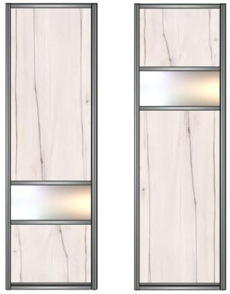 Модель 14-15 ЛДСП-зеркало серебро-ЛДСП 550 мм