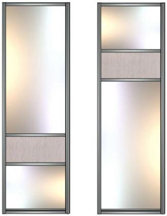 Модель 14-15 Зеркало сер.-ЛДСП-Зеркало сер. 645 мм