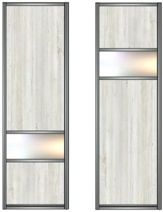 Модель 14-15 ЛДСП-зеркало серебро-ЛДСП 730 мм