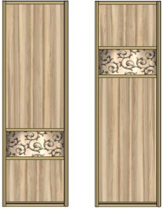 Модель 14-15 ЛДСП-зеркало с песк. рис.-ЛДСП 550 мм