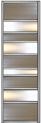 Модель 23 ЛДСП — Зеркало серебро 730 мм