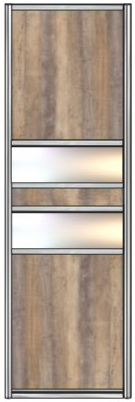 Модель 25 ЛДСП — Зеркало серебро 600 мм