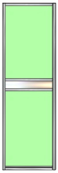 Модель 26 полотно Стекло с пленкой — вставка зеркало сер. или тонир. 600 мм