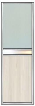 Модель 26 Стекло с пленкой — вставка зеркало сер. или тонир. — ЛДСП 600 мм