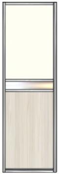 Модель 26 Стекло с пленкой — вставка зеркало сер. или тонир.- ЛДСП 800 мм