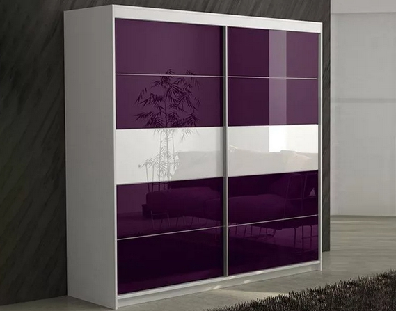 Шкаф-купе 2-х створчатый фиолетовый