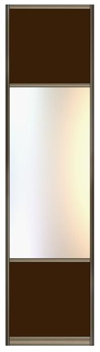 Модель 13 Стекло с плёнкой-Зеркало сер.-Стекло с пленкой 600 мм