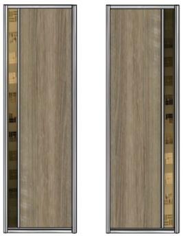 Модель 21-22 полотно ЛДСП — вставка 100 мм Зеркало с песк. рис. 730 мм