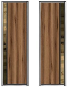 Модель 21-22 полотно ЛДСП — вставка 100 мм Зеркало с песк. рис. 705 мм