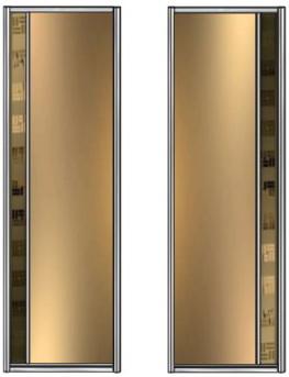 Модель 21-22 полотно Зеркало тонир. — вставка 100 мм зеркало с песк. рис. 705 мм