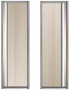 Модель 21-22 полотно ЛДСП — вставка 100 мм Зеркало серебро 550