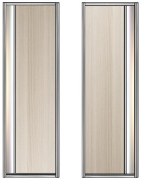 Модель 21-22 полотно ЛДСП — вставка 100 мм Зеркало серебро 600 мм