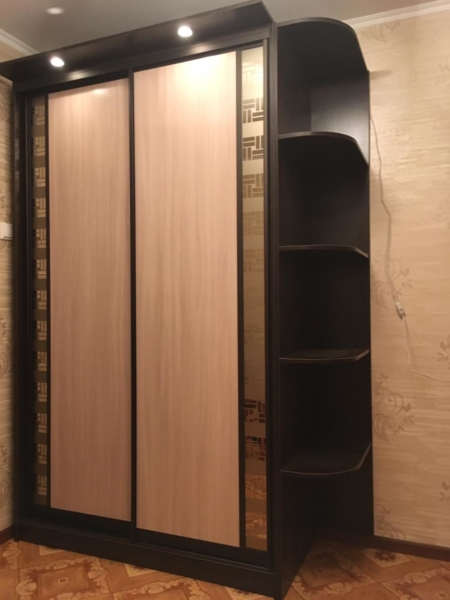 Шкаф-купе корпусной 2-х створчатый 2316х1208х405 мм