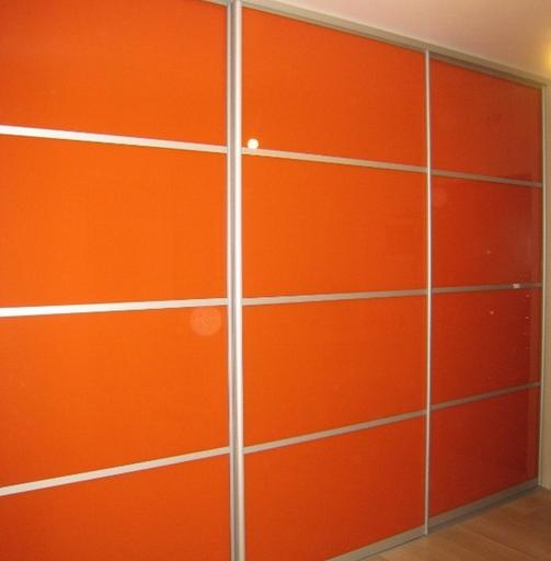 Шкаф-купе 3-х створчатый Оранжевый