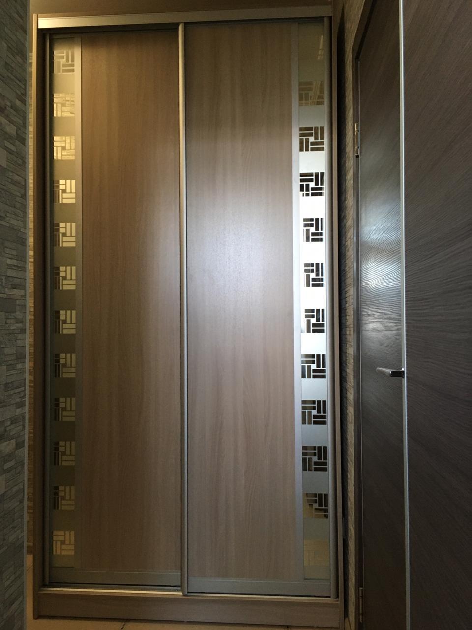 Шкаф-купе 2-х створчатый Карамель с декором