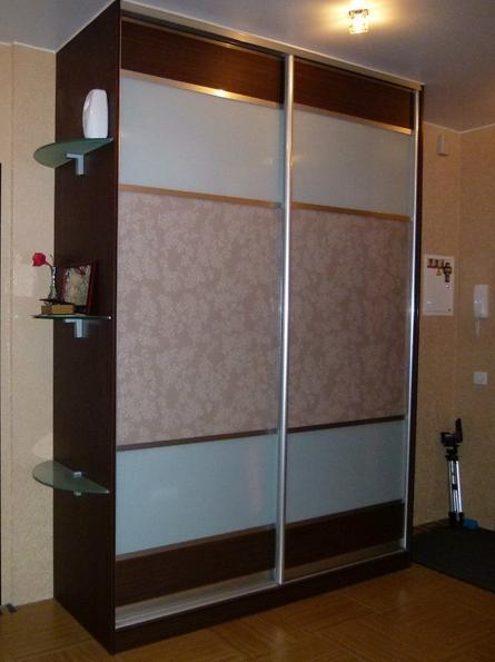 Шкаф-купе 2-х створчатый комбинированные двери Цветы