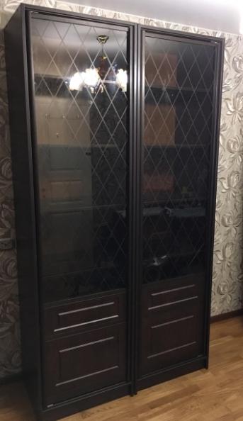 Шкаф-купе 2-х створчатый Венге Цаво стеклянные двери