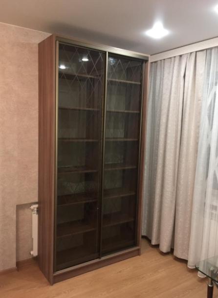 Шкаф-купе 2-х створчатый со стеклянными дверьми Ромбы