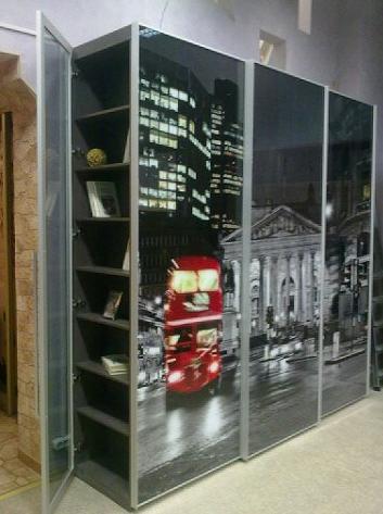 Шкаф-купе 3-х створчатый фотопечать Лондон