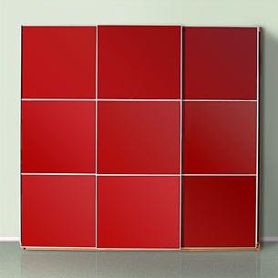 Шкаф-купе 3-х створчатый Красный