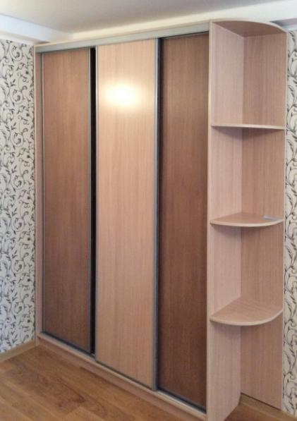 Шкаф-купе 3-х створчатый Ольха натуральная и Дуб Сонома