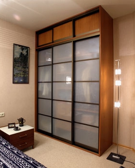Шкаф-купе 3-х створчатый Орех Мария Луиза стеклянные двери