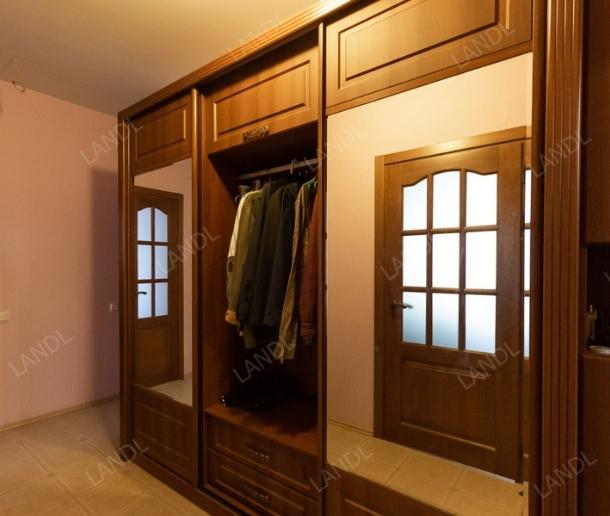 Шкаф-купе 3-х створчатый Ясень Шимо шоколадный классика с зеркалами