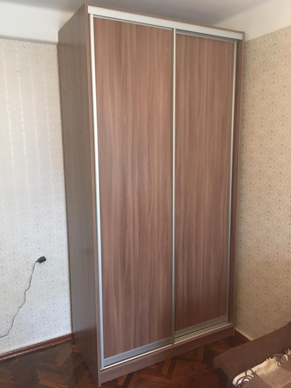 Шкаф-купе 2-х створчатый ЛДСП Ясень Шимо темный