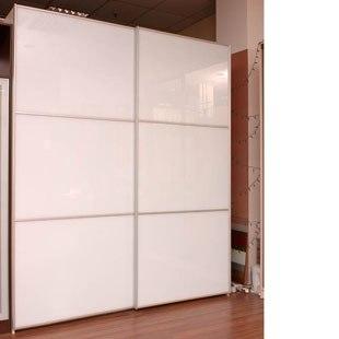Шкаф-купе 2-х створчатый для спальни лакобель Белый