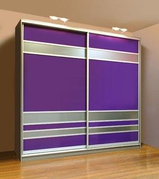 Шкаф-купе 2-х створчатый ярко фиолетовый