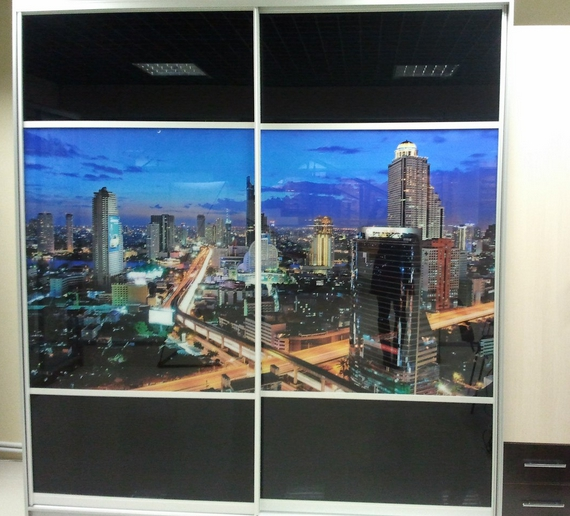 Шкаф-купе 2-х створчатый Ночной Город