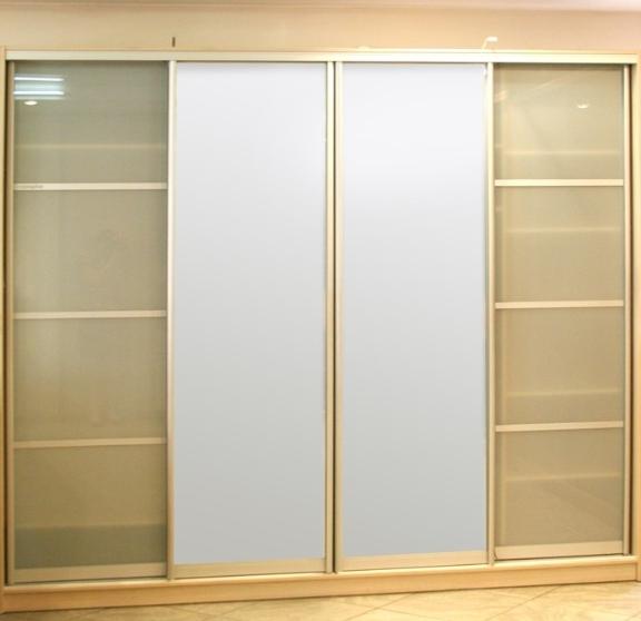 Шкаф-купе 4-х створчатый Беж Камео стеклянные двери