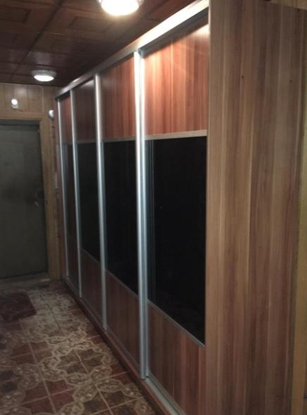 Шкаф-купе 4-х створчатый Слива Валлис со вставками