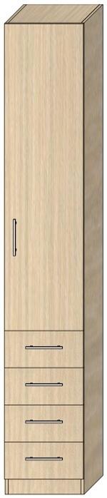 Пенал с распашной дверью Модель 4 2412х400х405 мм