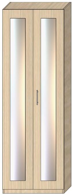 Пенал с распашными дверьми Модель D 2412х800х605 мм