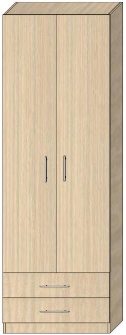 Пенал с распашными дверьми Модель 6 2412х800х605 мм