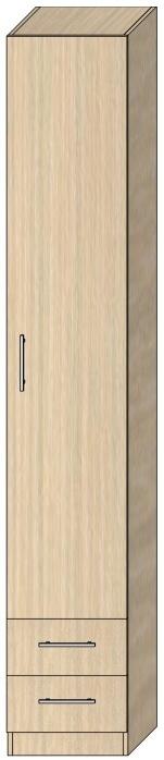 Пенал с распашной дверью Модель 6 2412х400х605 мм