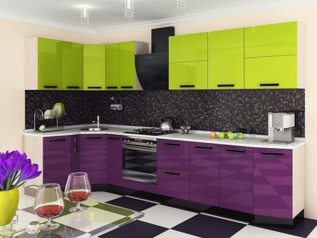 Кухня угловая 1400х3500 мм