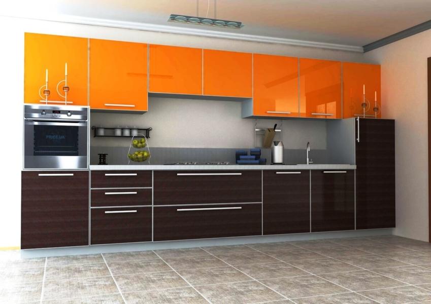 Кухня 3700 мм Оранж Борнео