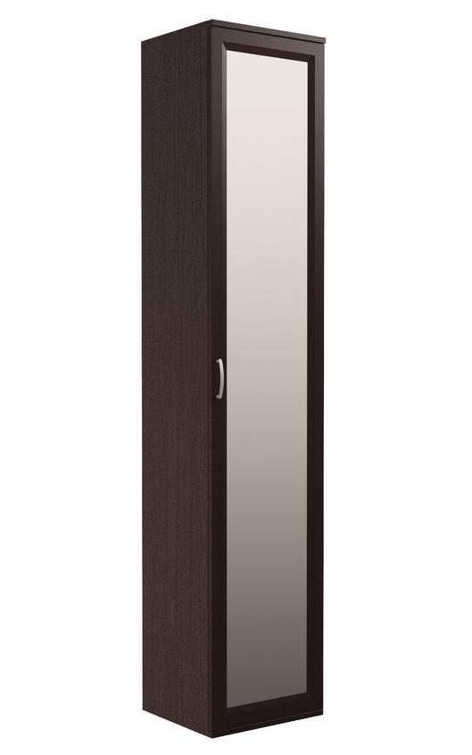 Пенал с распашной зеркальной дверью Венге Цаво