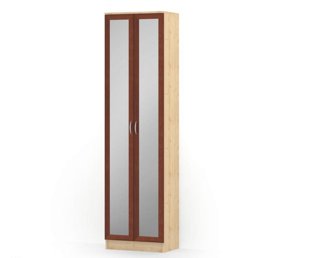 Пенал с распашными дверьми 2 зеркала