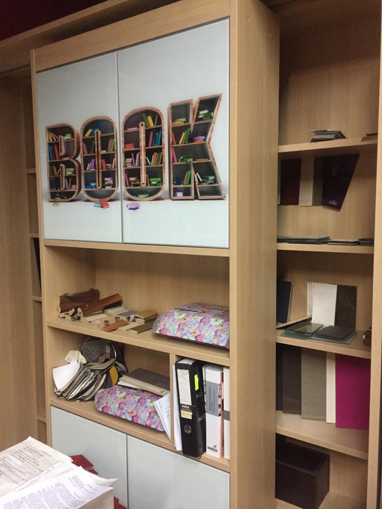 Раздвижная библиотека Римма с фотопечатью