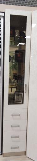Шкаф-пенал с распашной дверью и ящиками